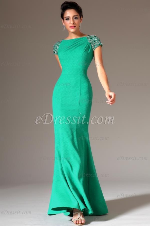 eDressit 2014 New Beaded Cap Sleeves Mermaid Evening Gown (02144211)