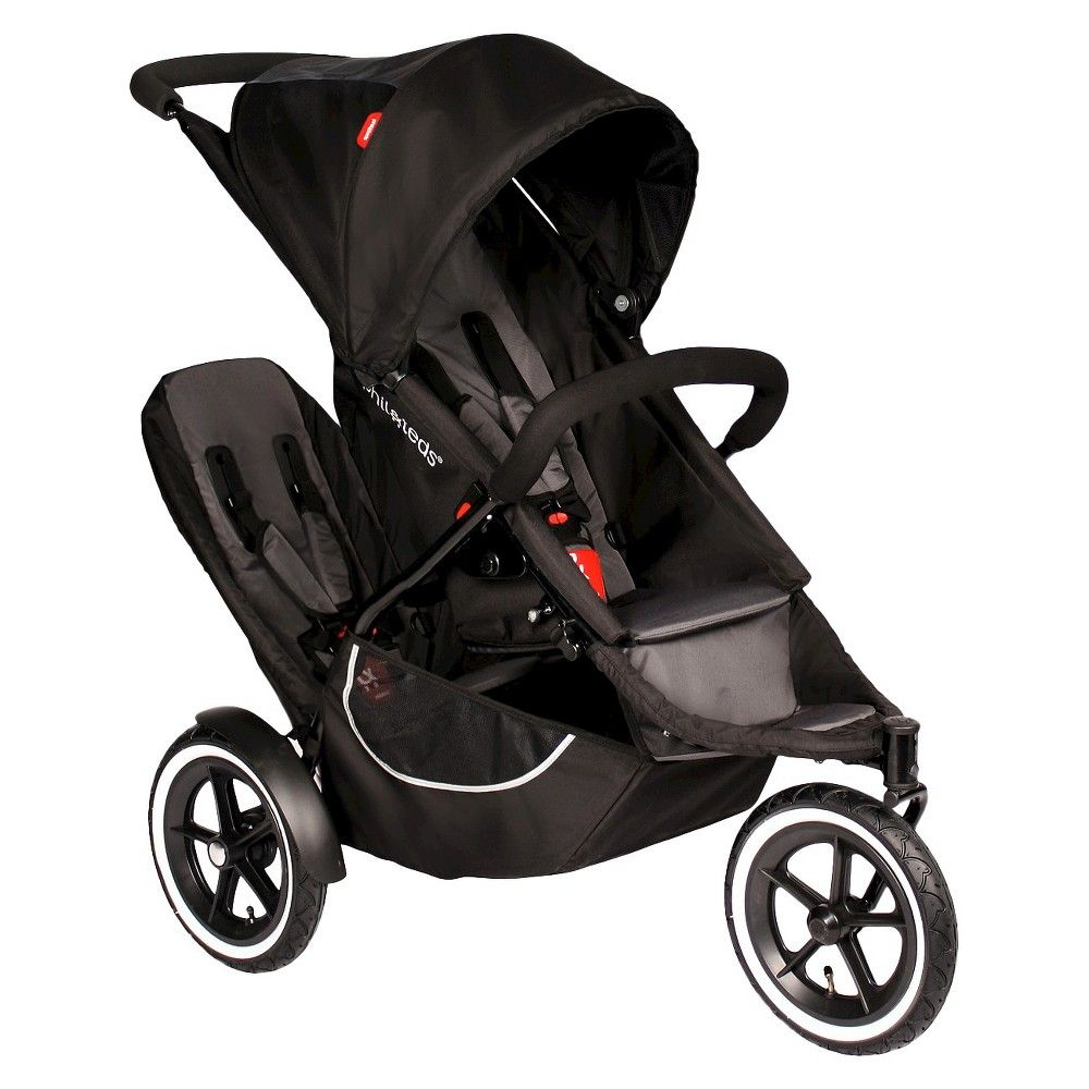 phil&teds Classic Inline Stroller with Second Seat Black