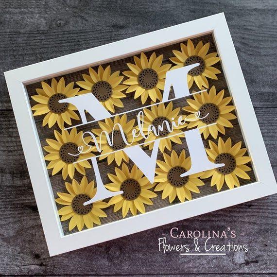 Sunflower Shadow Box -   19 diy Box art ideas