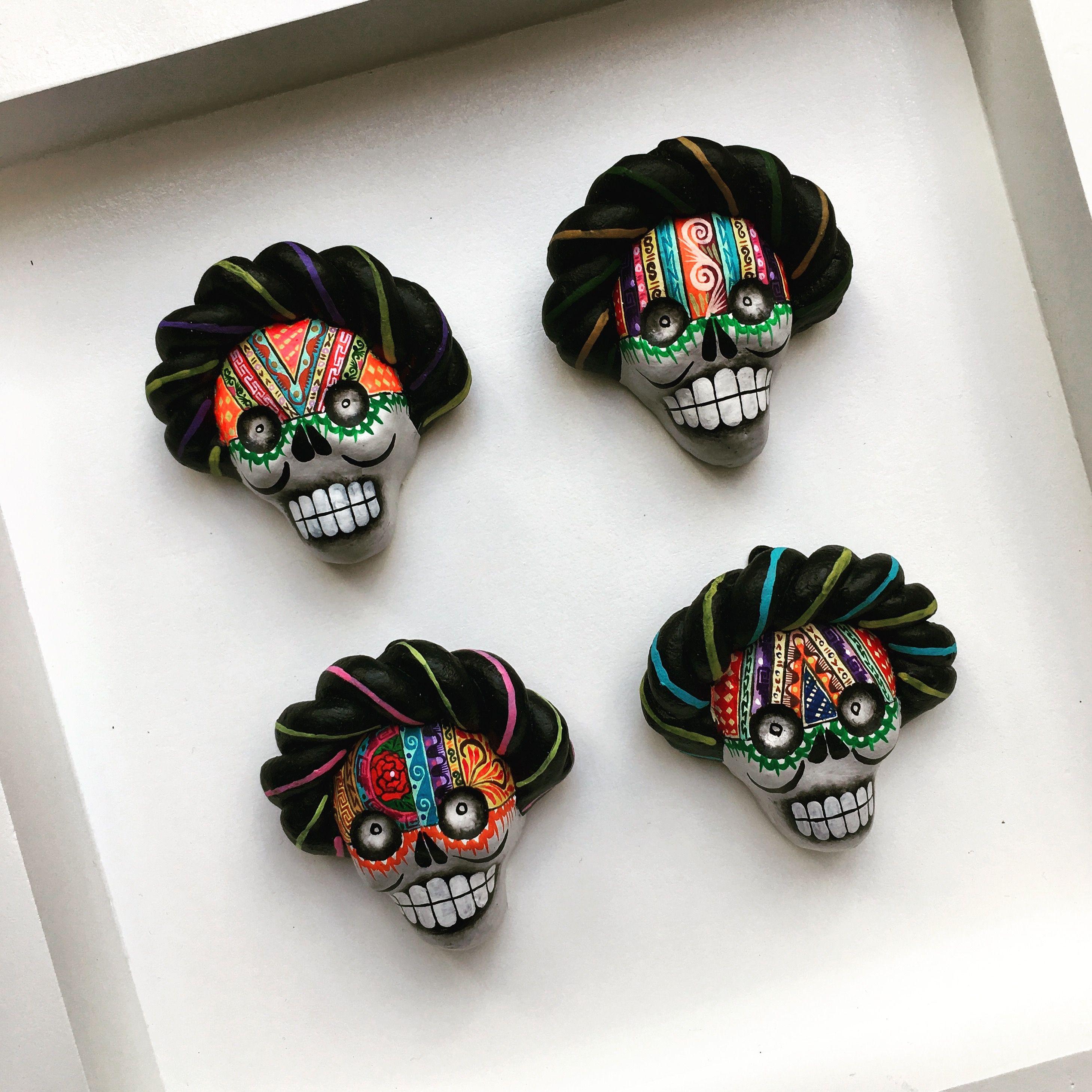 Sugar Skull Hat Baseball Cap Dia De Los Muertos Calaveras Day of the Dead Goth