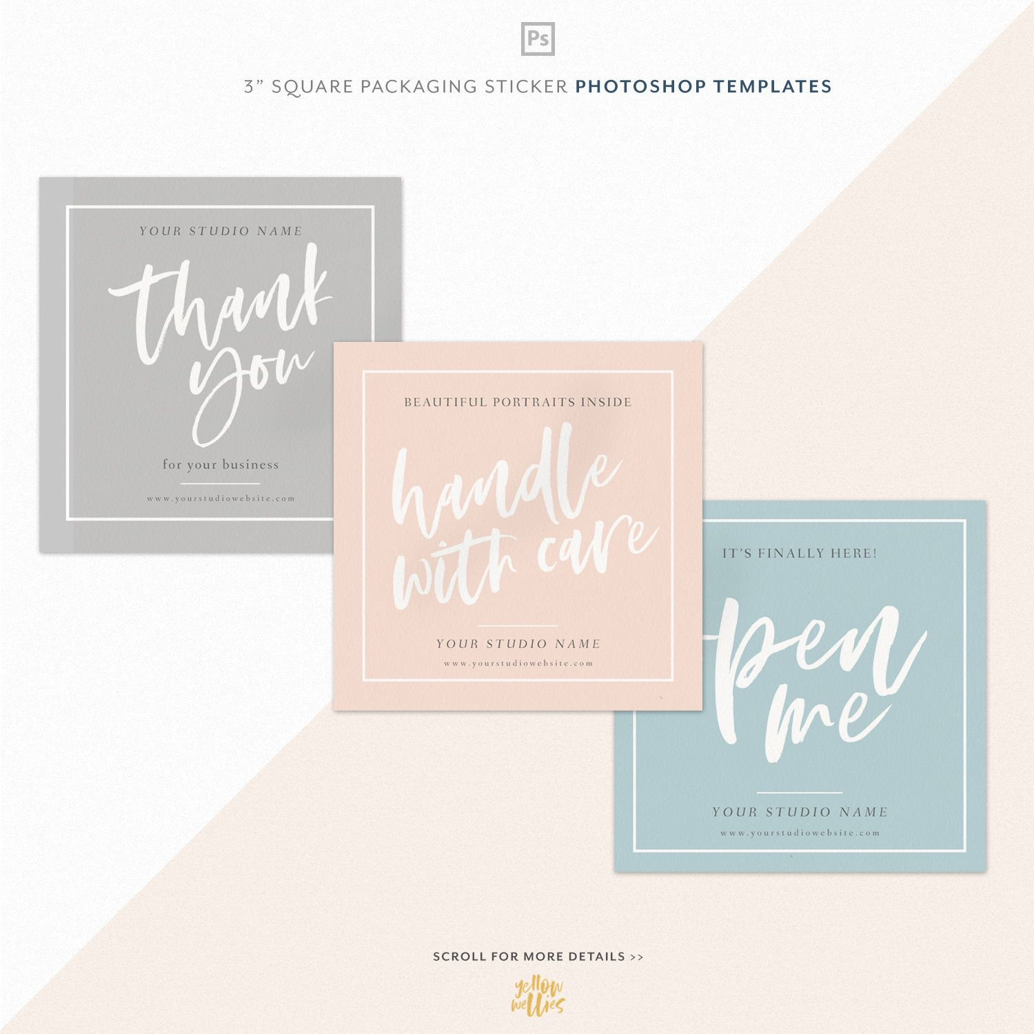 """3"""" Packaging Sticker Label Template Printable"""