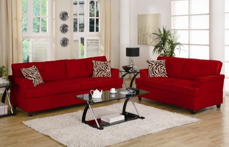 Cheap Red Sofa Sets | Living room ideas | Living room red, Small ...