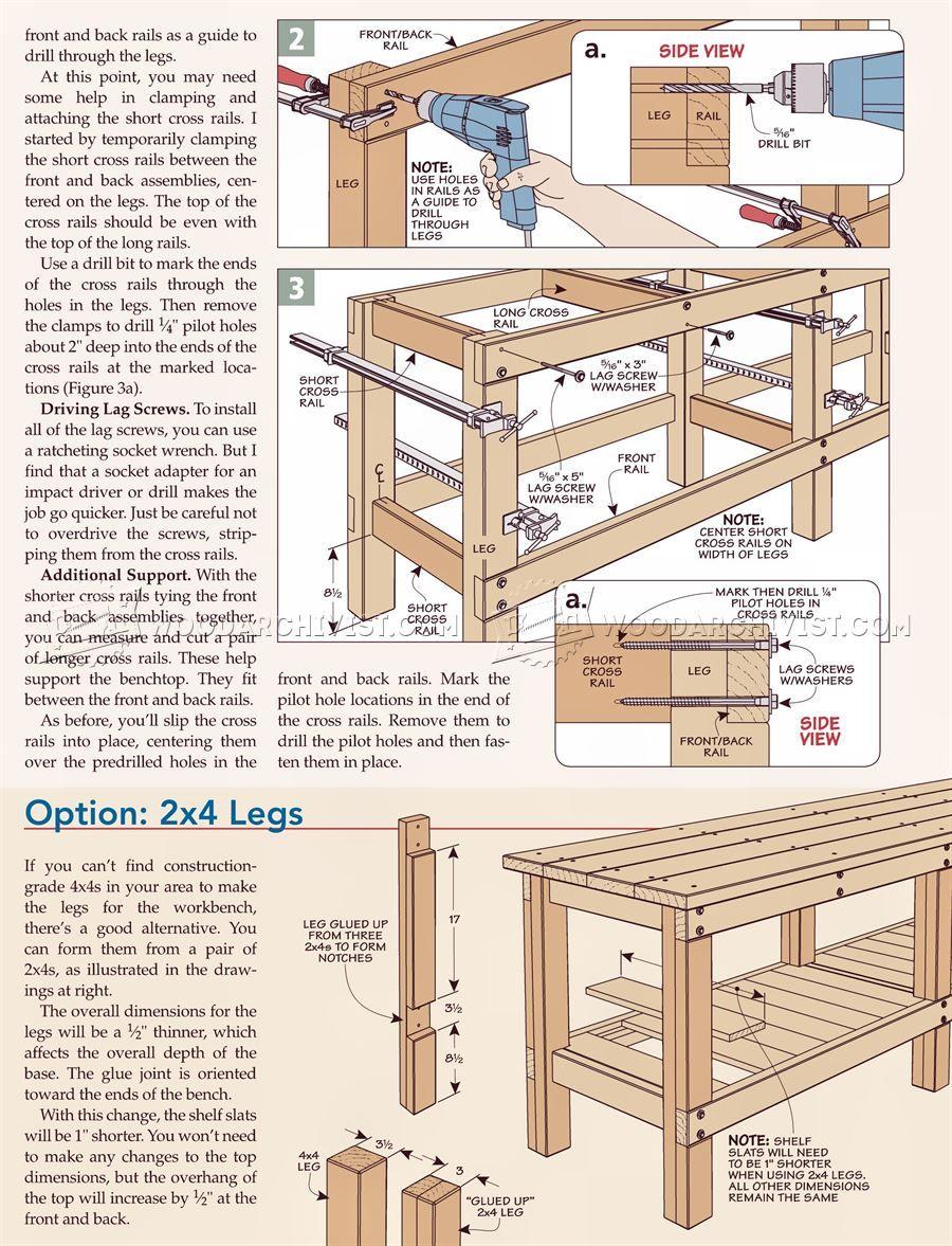 Pocket Screw Depth Gauge Workbench Plans Workbench Woodworking
