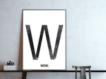 w - wow , wähle Dein Wort, Poster, DIN A4