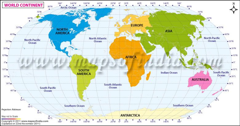 Map highlights the names and locations of world continents map highlights the names and locations of world continents gumiabroncs Images