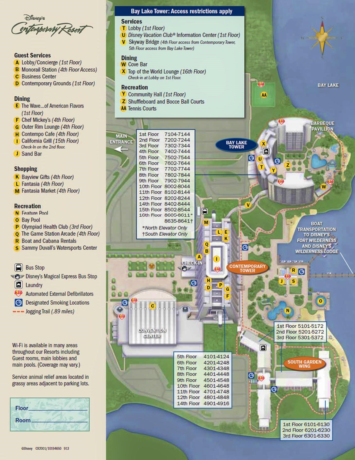 bay lake tower room map Review Bay Lake Tower At Disney S Contemporary Resort Disney bay lake tower room map