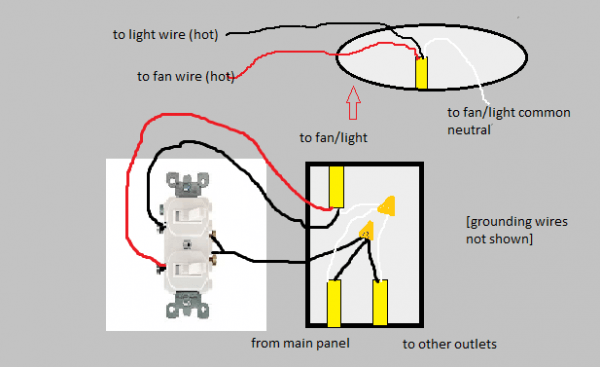 wiring diagram for double pole light switch in 2021  double
