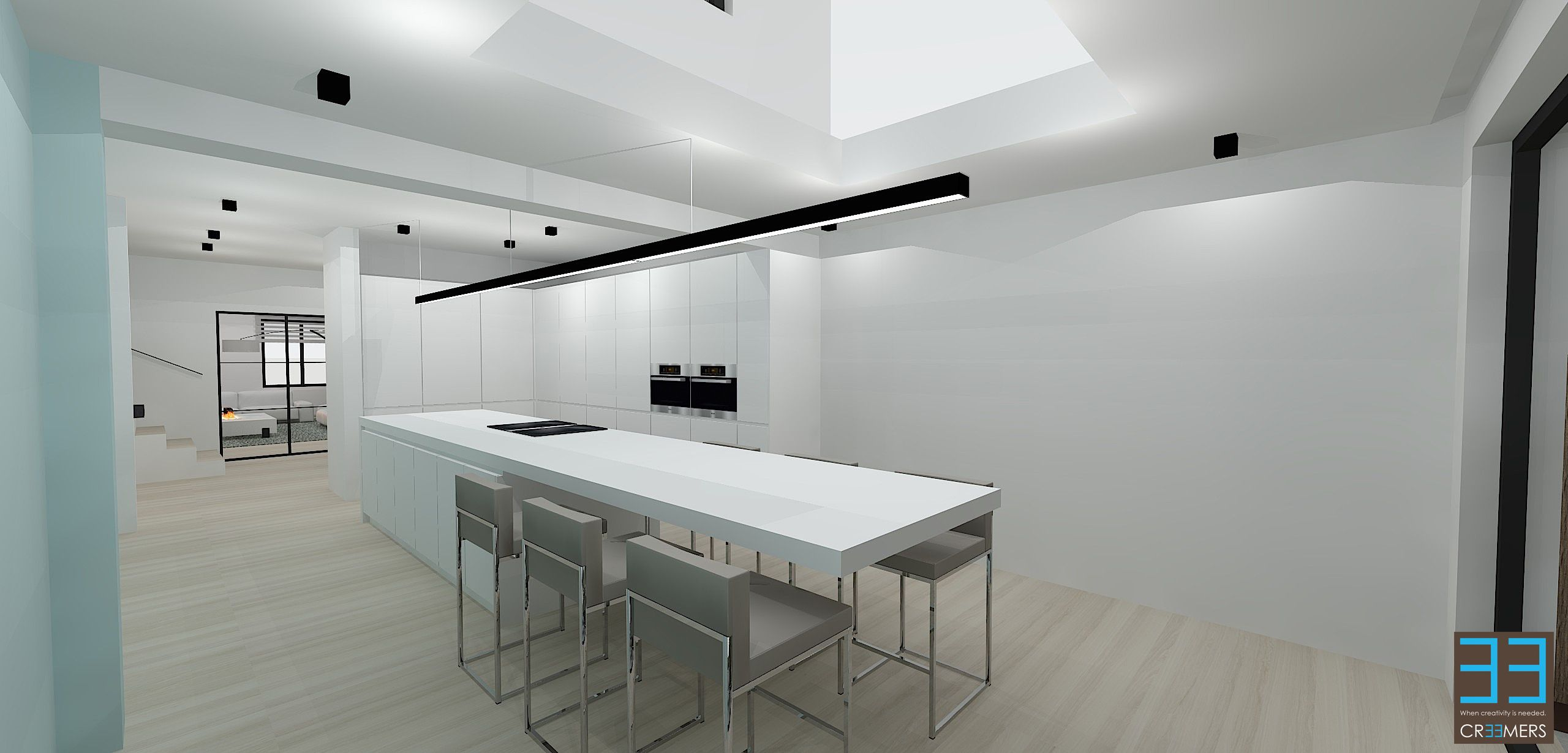 Keukeneiland Verlichting : Interieur Modern | beach woonkamer ...