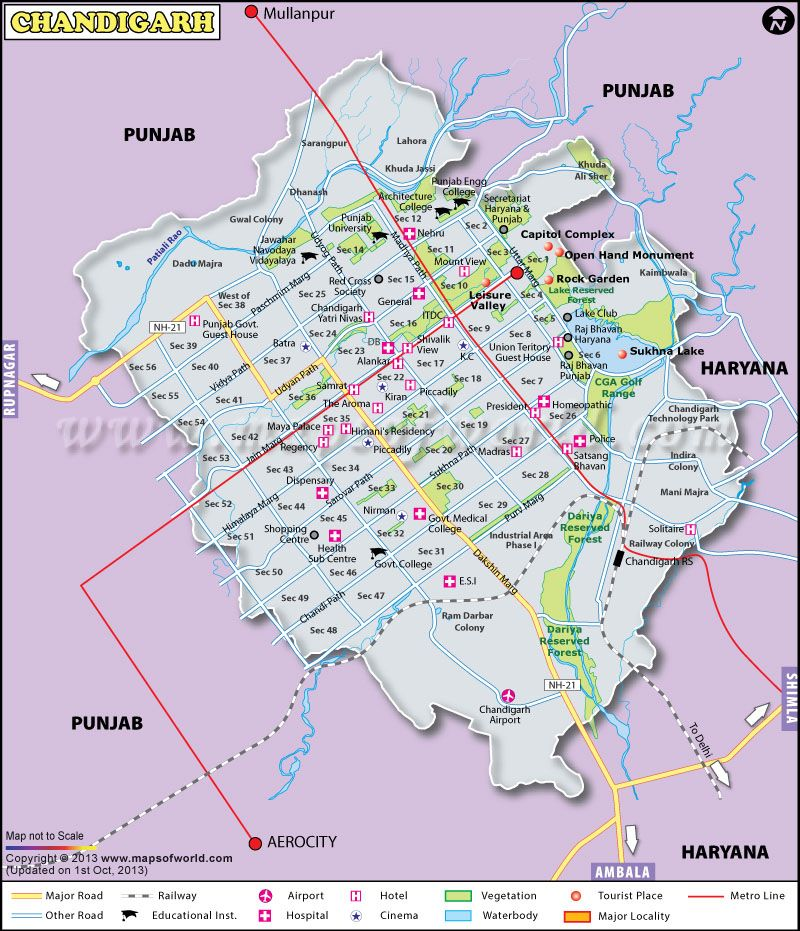 chandigarh airport location map Chandigarh Map Map Of Chandigarh City Map Chandigarh Social chandigarh airport location map