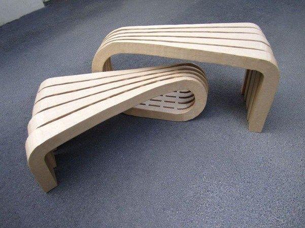 Tonkr Mobilier En Carton Mobilier En Carton Design En Carton Banc Design