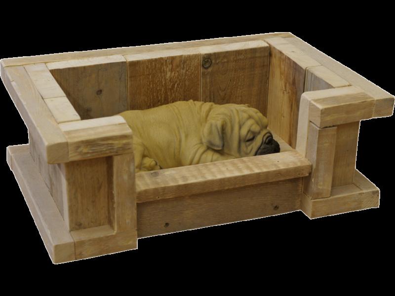 Mooie hondenmand hondenbak van steigerhout for Zelf meubels maken van hout