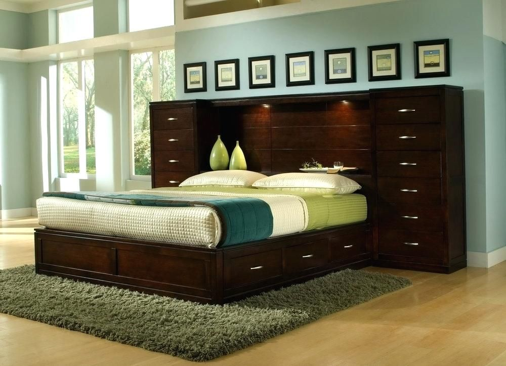 king size headboard with storage and