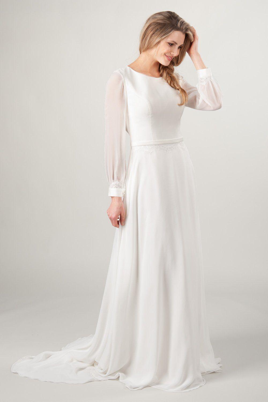 Oxford Modest Long Sleeve Wedding Dresses Modest Wedding Gowns Modest Wedding Dresses [ 1500 x 1000 Pixel ]