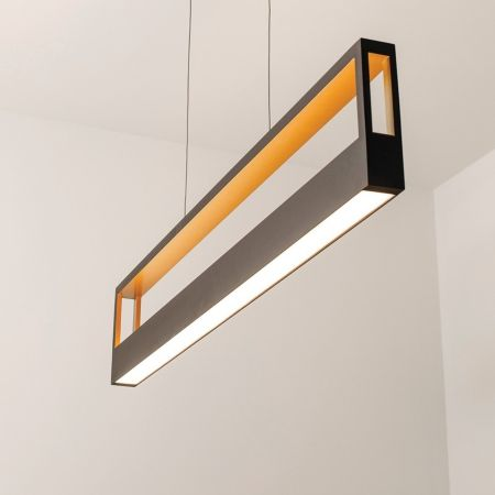 echo led linear suspension light in