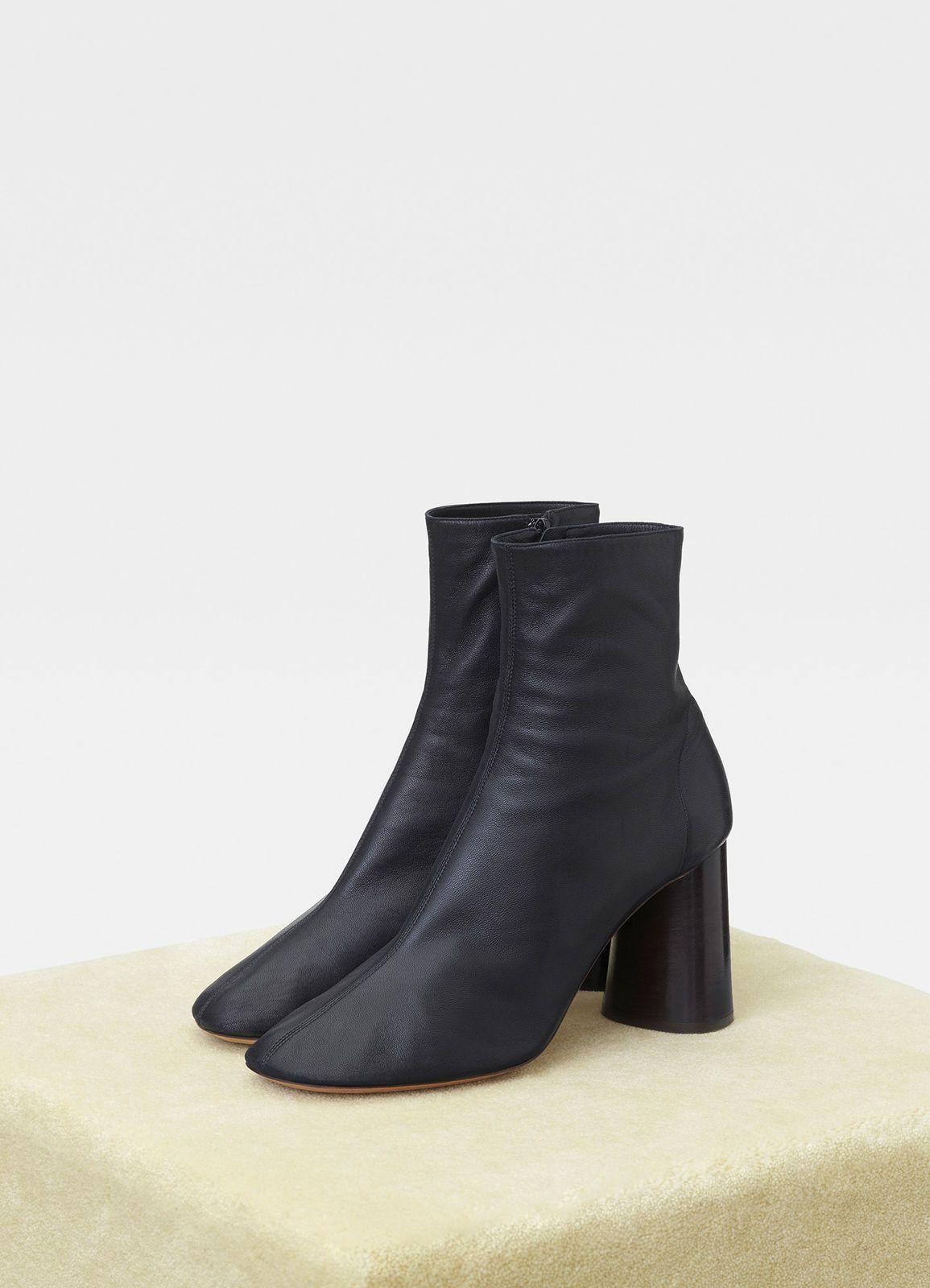 a7dfdc120 Elliptic heel ankle boot in nappa lambskin
