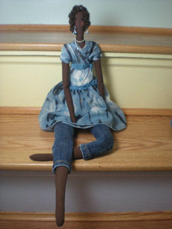 Tilda doll Fabric doll - lovely cloth doll African American stuffed ...