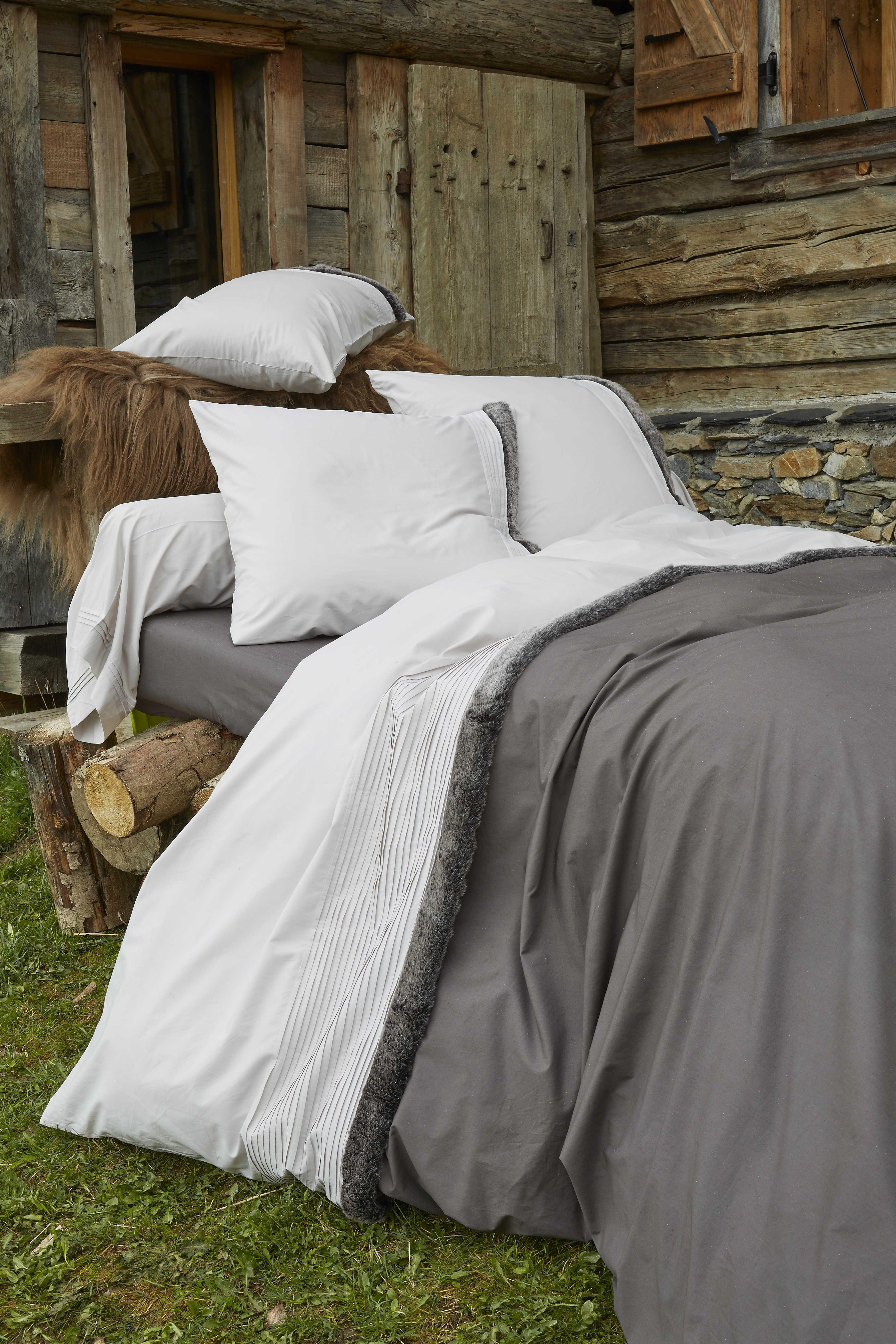 Parure de lit inuit fourrure parure de linge de lit en - Housse de couette fourrure ...