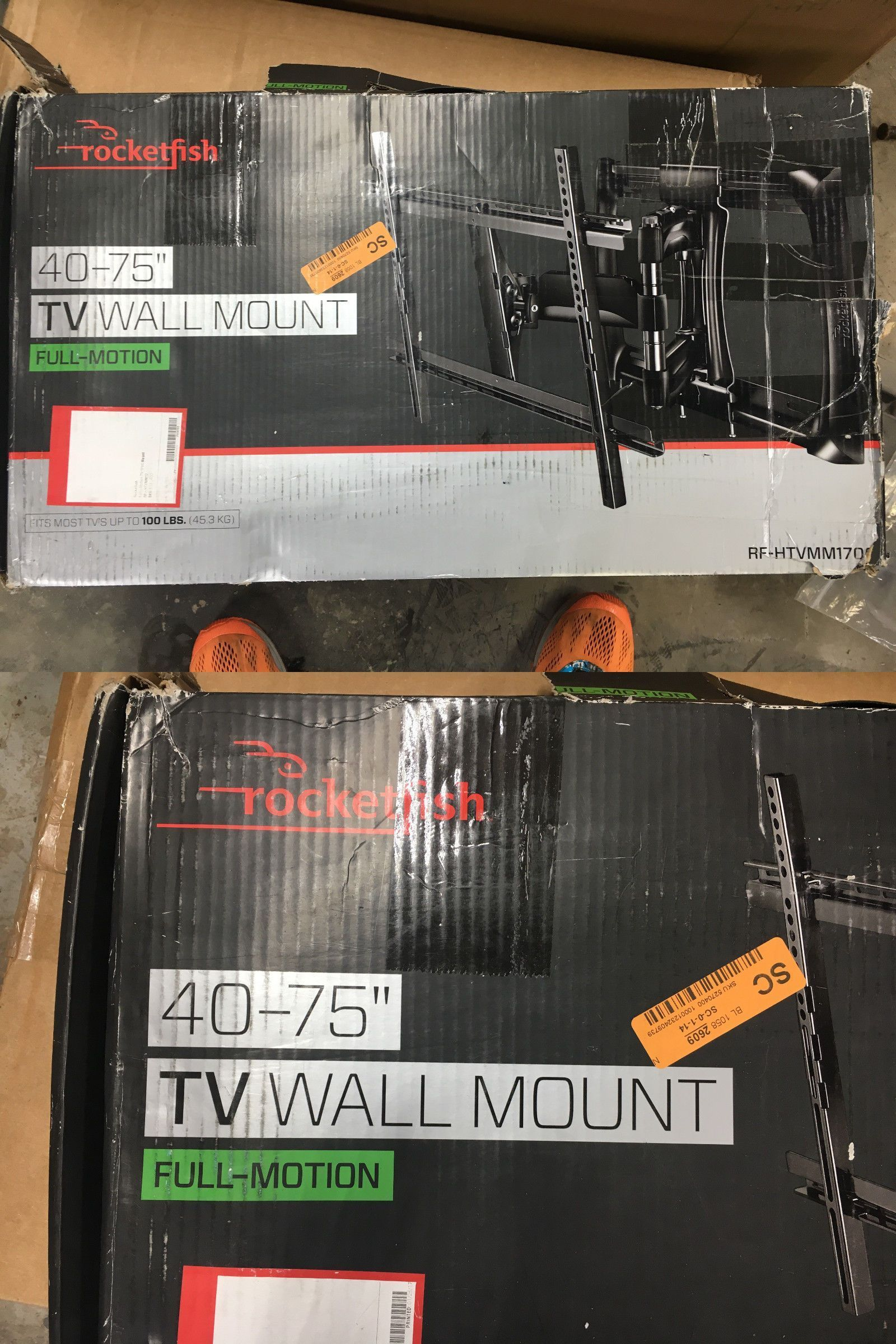 Beautiful TV Mounts And Brackets: Rocketfish Rf Htvmm170c Full Motion 40   75 Tv Wall Images
