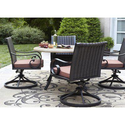 Allen Roth Pardini 5 Piece Dining Set Outdoor Furniture Sets 5 Piece Dining Set Renovation Hardware