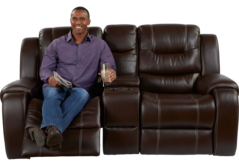 Baycliffe Brown Reclining Console Loveseat Furniture Pinterest
