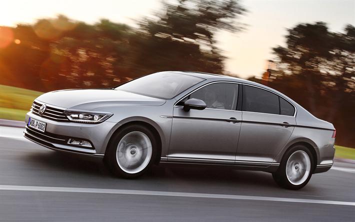 Download wallpapers Volkswagen Passat, road, 4k, 2018 cars, german cars, VW, Vol…