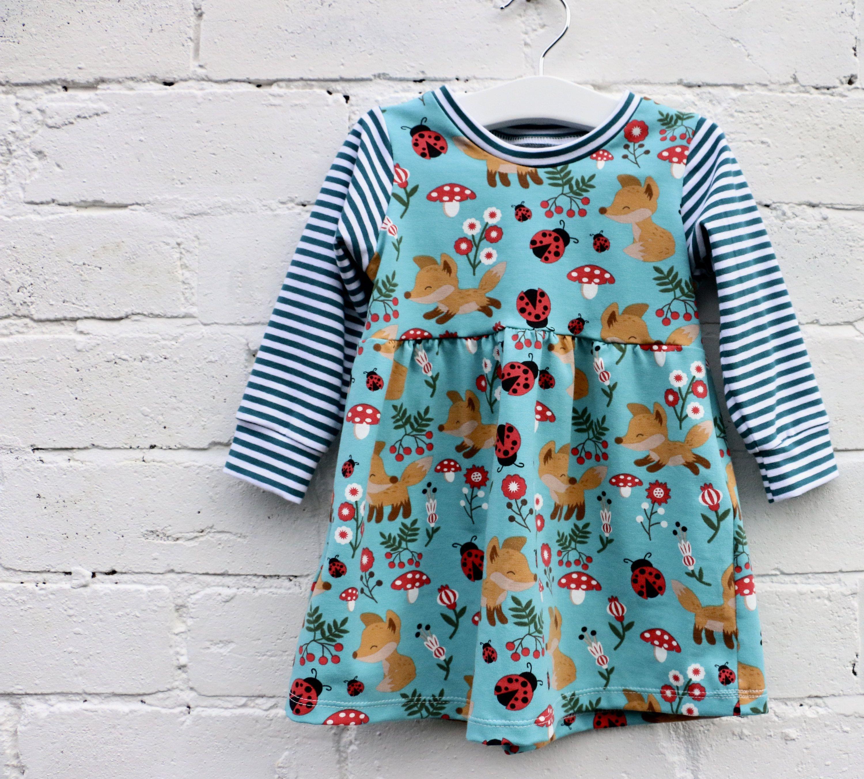 Baby Girls Jersey Dress Girls Bambi Dress Baby Bunny Dress