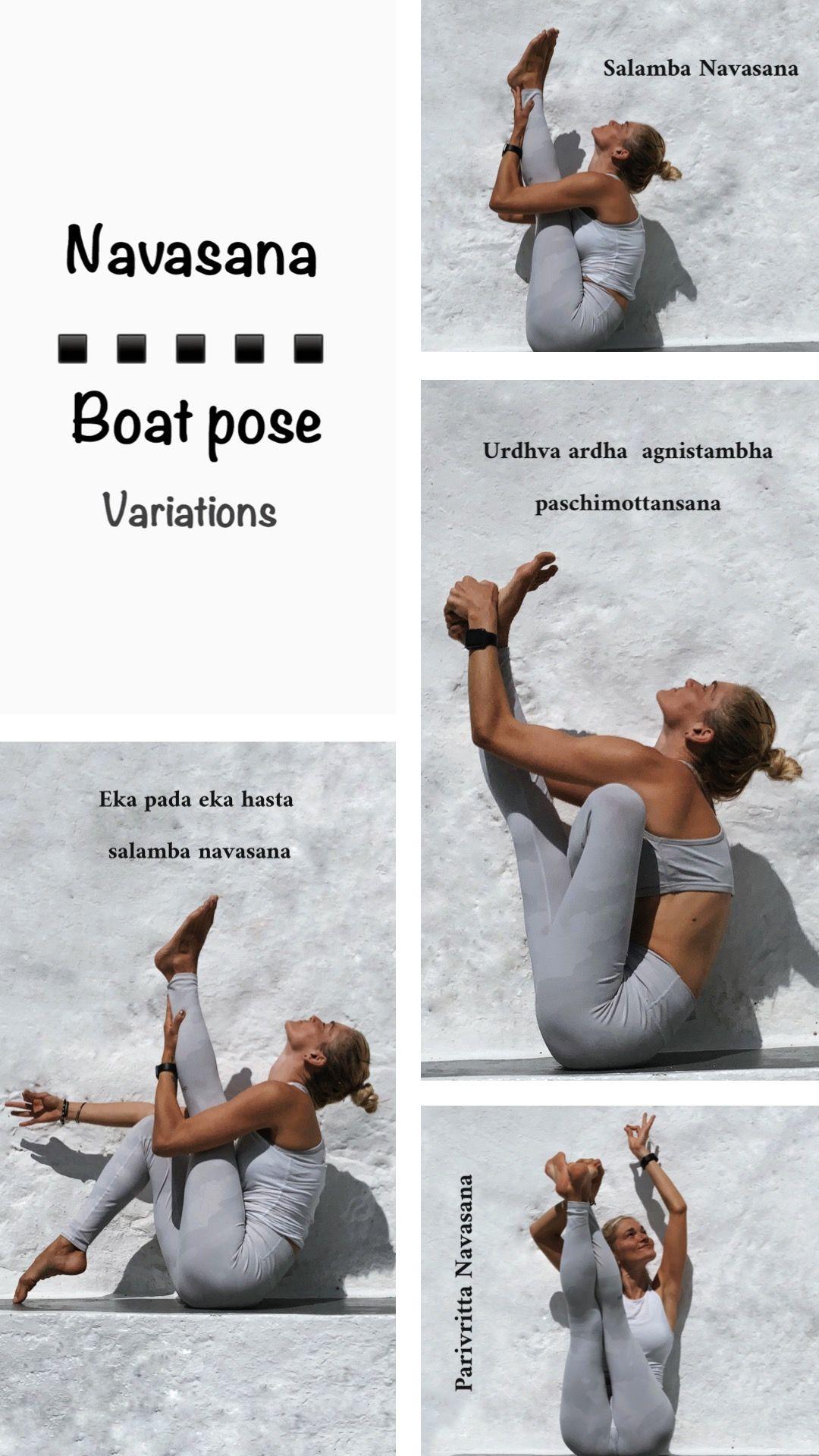 Navasana boat pose variations   Boat pose, Yoga sequences, Poses