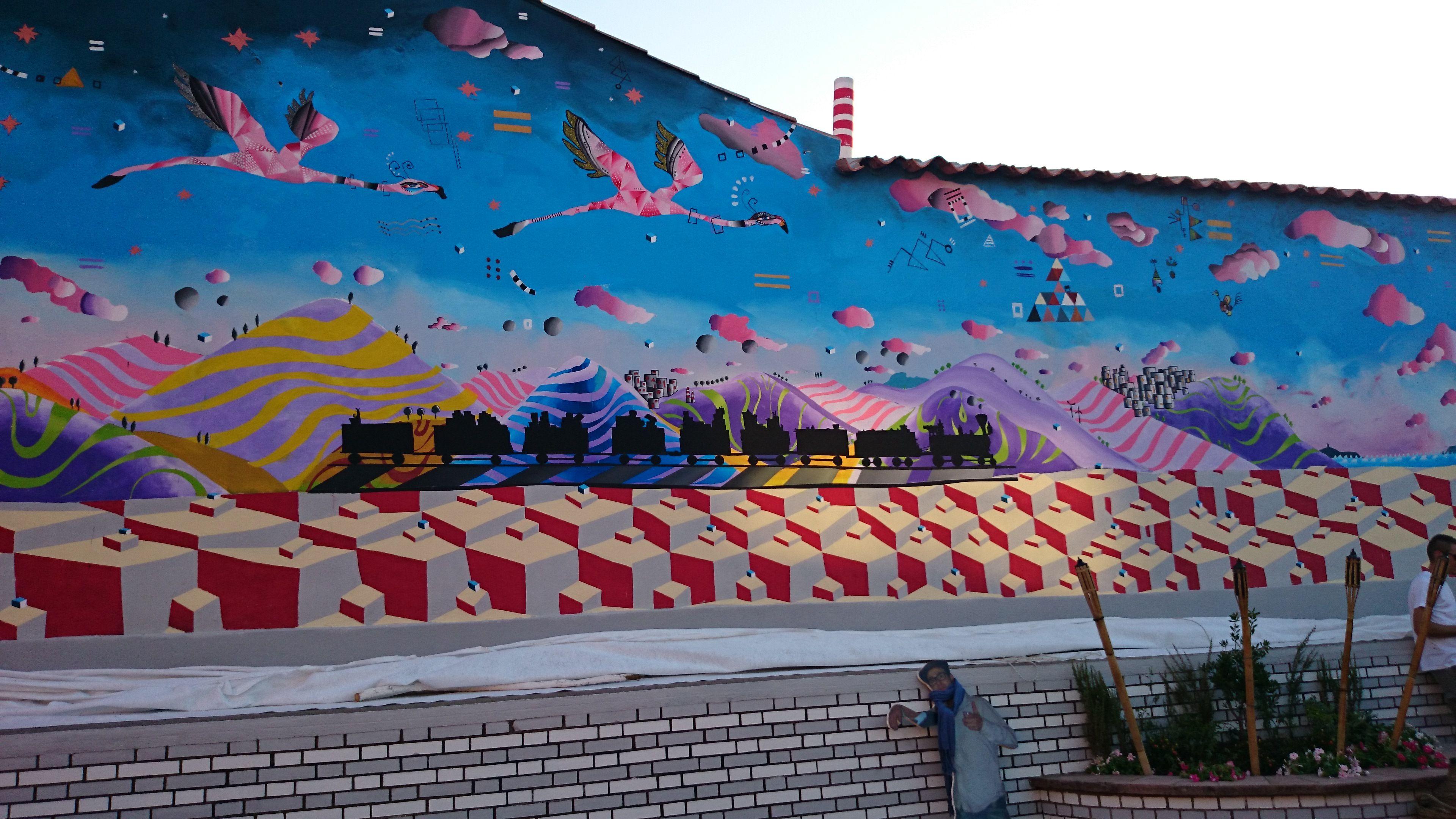 Il murales di San Gavino Monreale