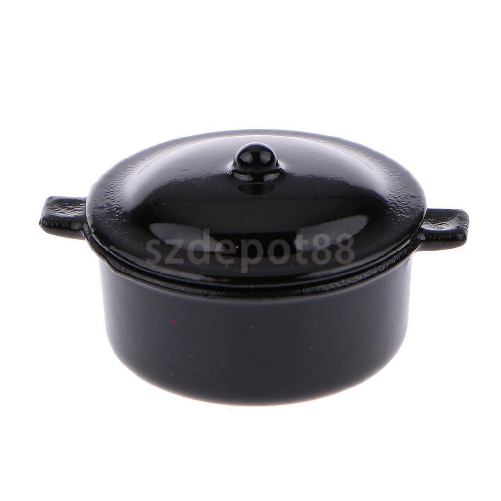 Black Fish Pot /& Ladle 1.658//8 Reutter Porcelain Dollhouse miniature 1//12 scale