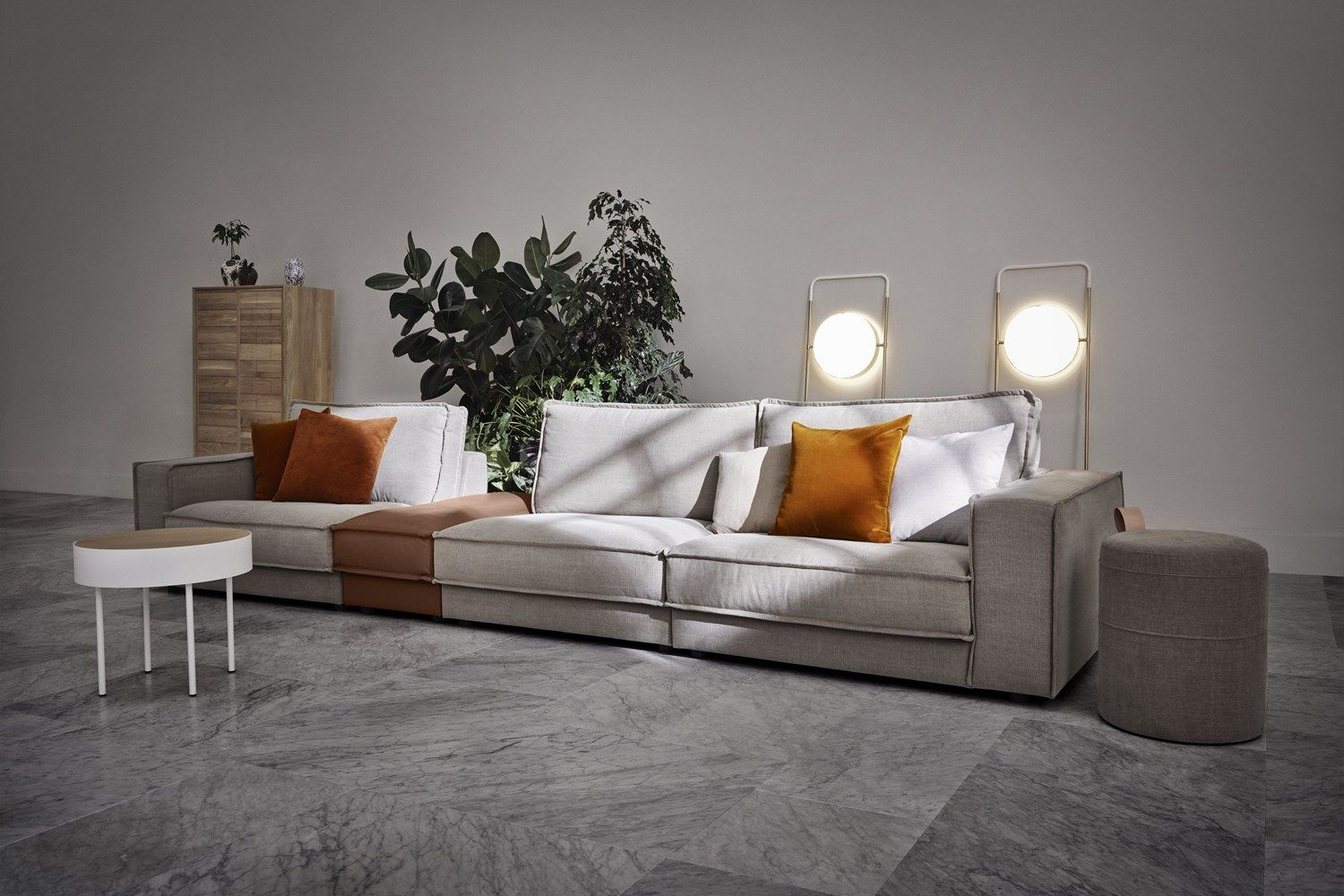 Big Sofa 290 Cm Noora 5 Units 245 X 375 Cm Treadwell In 2019 Led Floor Lamp