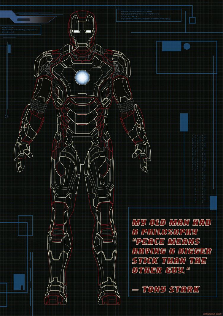 Charming Now Go Build Iron Man Mark 42 Blueprints Stickers,posters,tshirts Of This