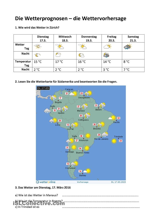 Das Wetter und die Wettervorhersage   Pinterest   Wettervorhersage ...