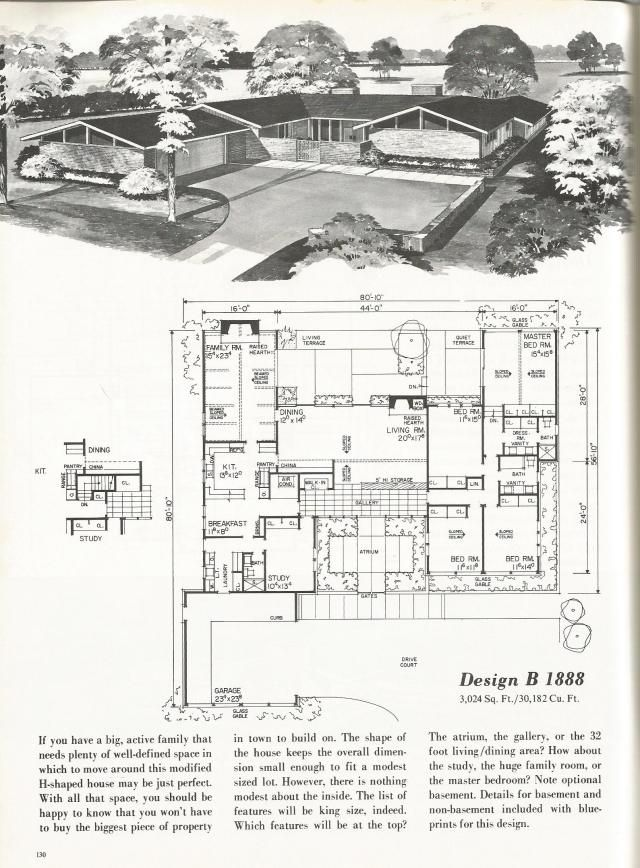 Vintage House Plans 2000 Square Foot Homes Mid Century