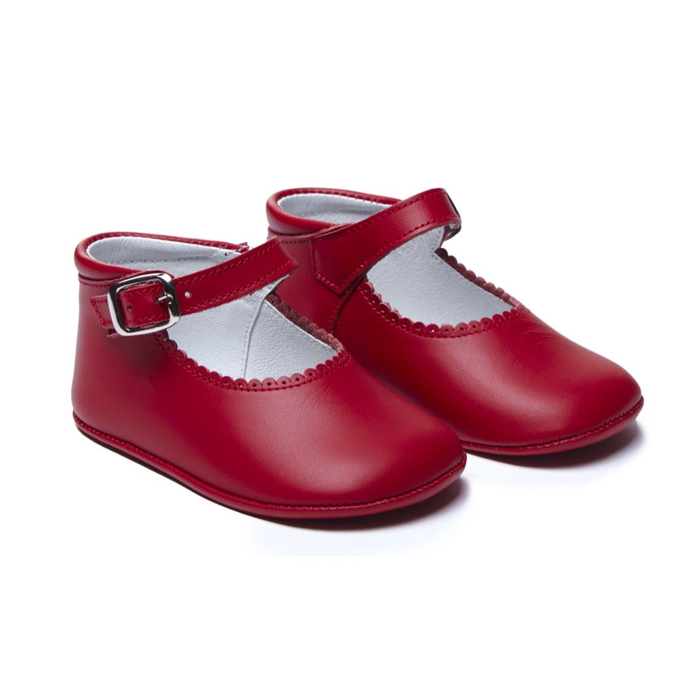 d8eb45cebd52 Red Skipper Leather Double-Buckle Mary Jane