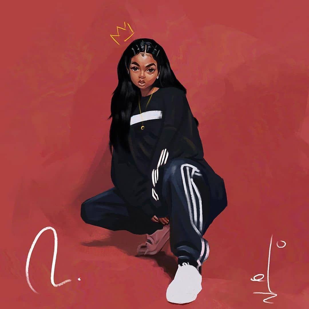#DopeBlackArt by @mind.of.el - Sometimes you just have to be your own queen 👑  Reference @xiamaramusic . . #melaninmagic #melanin #blackgirl #blackartmatters #dopeblackartwork #melaningoddess #blackgirlsrock #art #dopeblackartist #blackgirls #blackgirlmagic #melaninonfleek #dopeblackart #blackgirlyoga #dopeblackartists #blackarts #streetart #melaninpoppin #blackartist #blackgirlmakeup #blackartists #artist #melaninqueen #artwork #blackartsupport #blackart #naturalhair #instaart #artoftheday