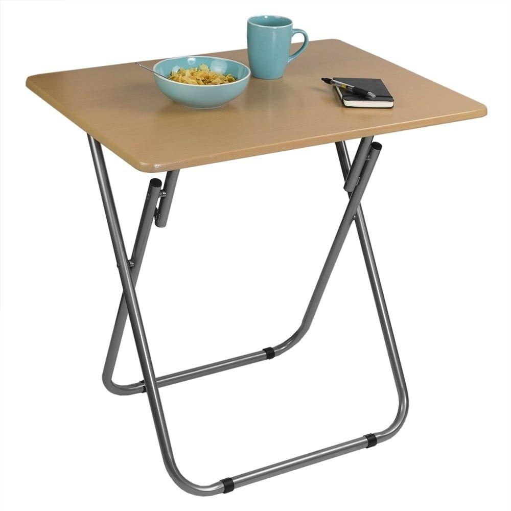 Jumbo Multi Purpose Foldable Table Natural Tan Home Basics Home Basics Folding Table Foldable Table