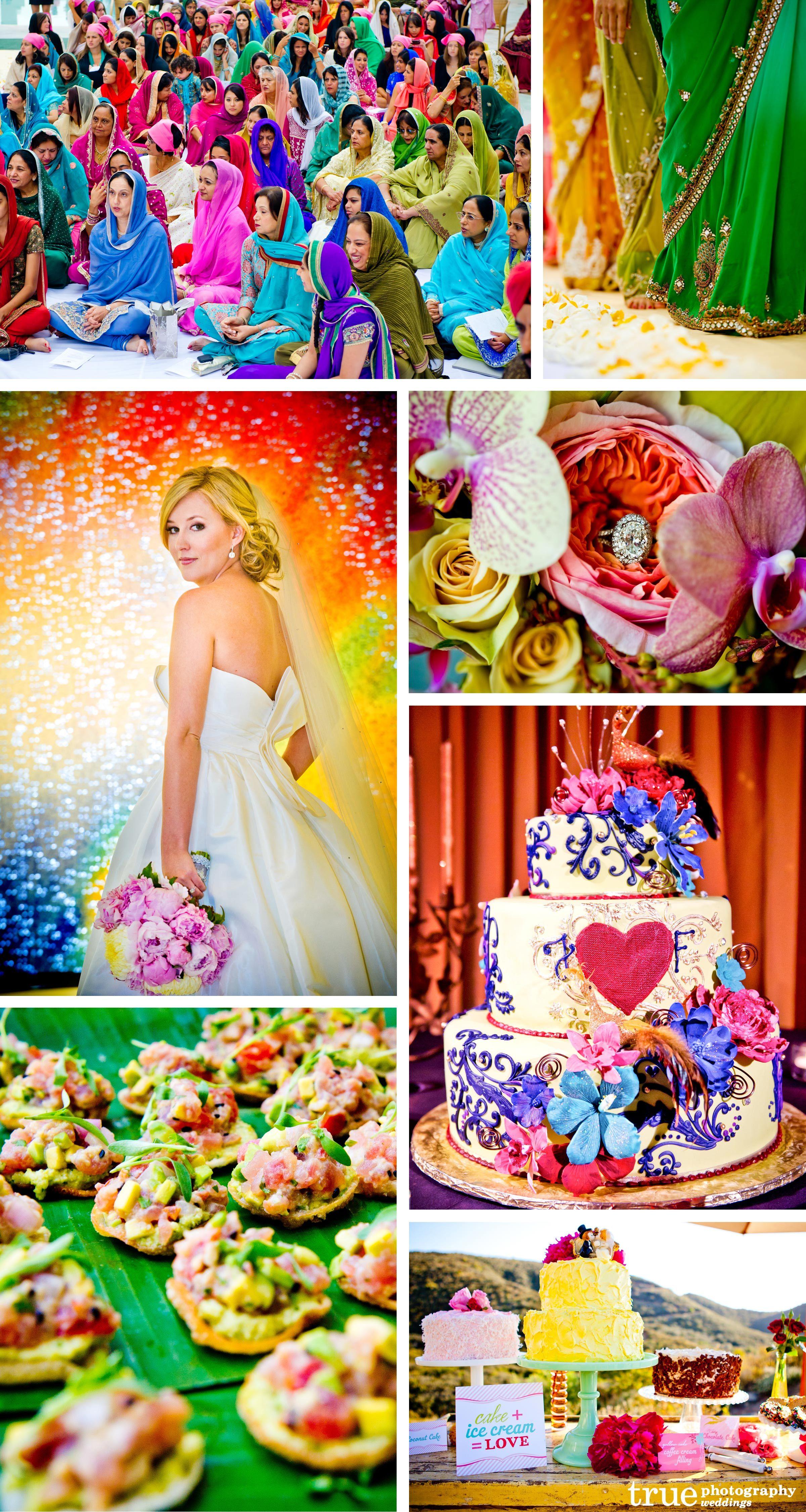 Rainbow Colored Wedding Photos Indian Wedding Photos Rainbow