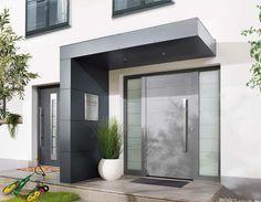 Moderne Hauseingänge eingangsüberdachung vordach für haustüren siebau fenster