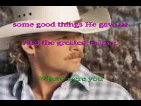 Where Were You Alan Jackson Lyrics Karaoke Mtll With Voice Good
