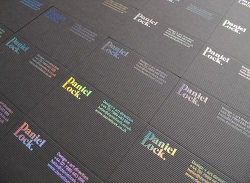 Daniel Lock - holographic foil block and cord embossing