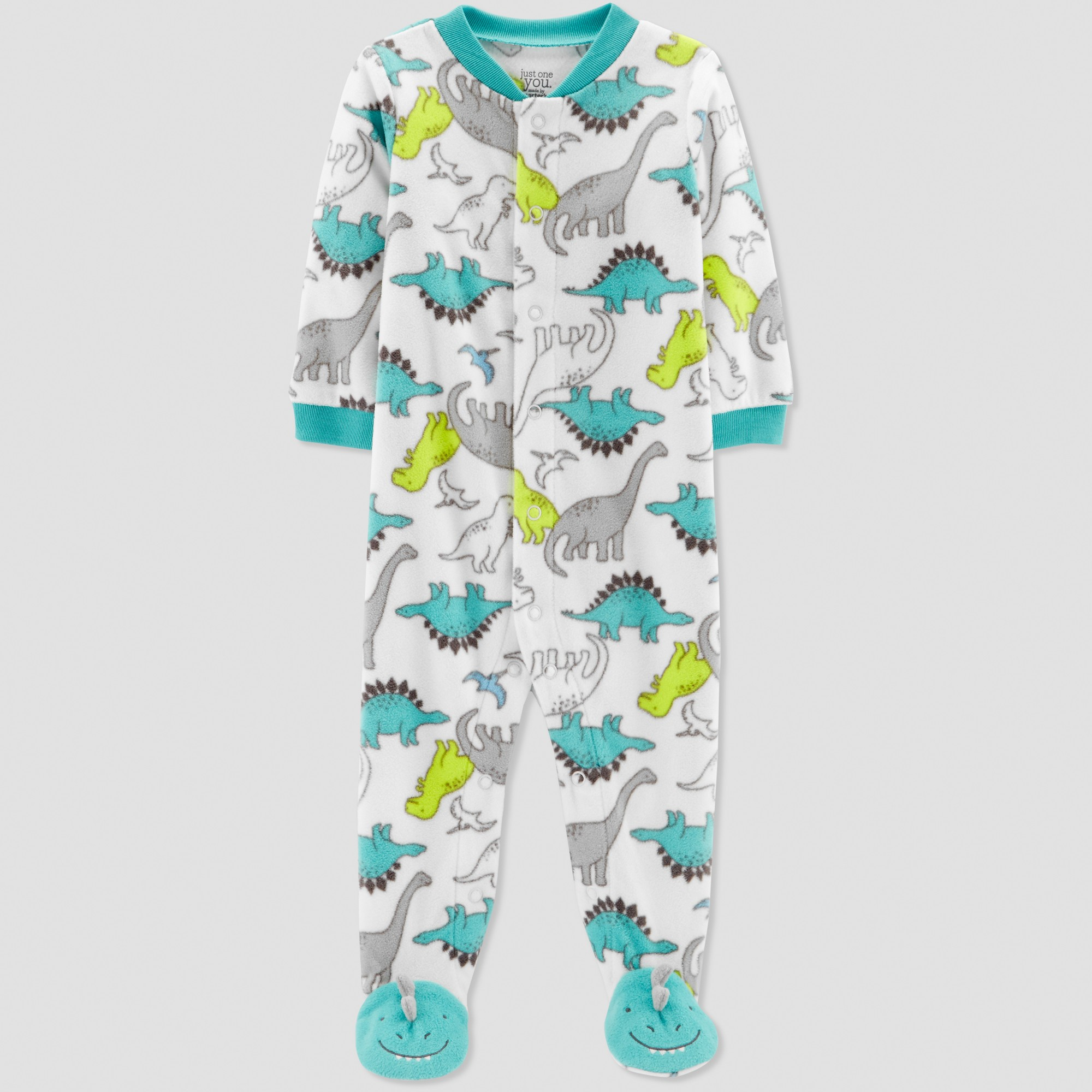 aee096eded51 Baby Boys  Dino Print Microfleece Sleep  N Play - Just One You made ...