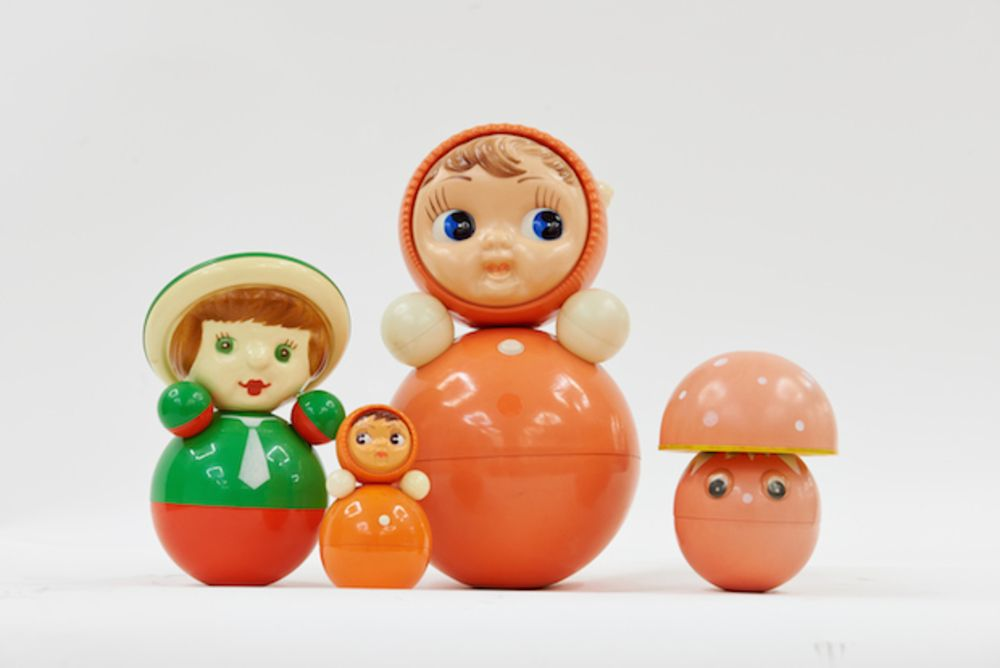 Large l nevalyashka dolls  produced from 1958  courtesy grad and moscow design museum
