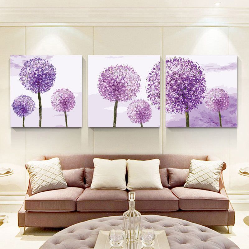 Attrayant Set Of 3 Dandelion Wall Art Paint By Number Kit/ Gift For Her/ Dandelion