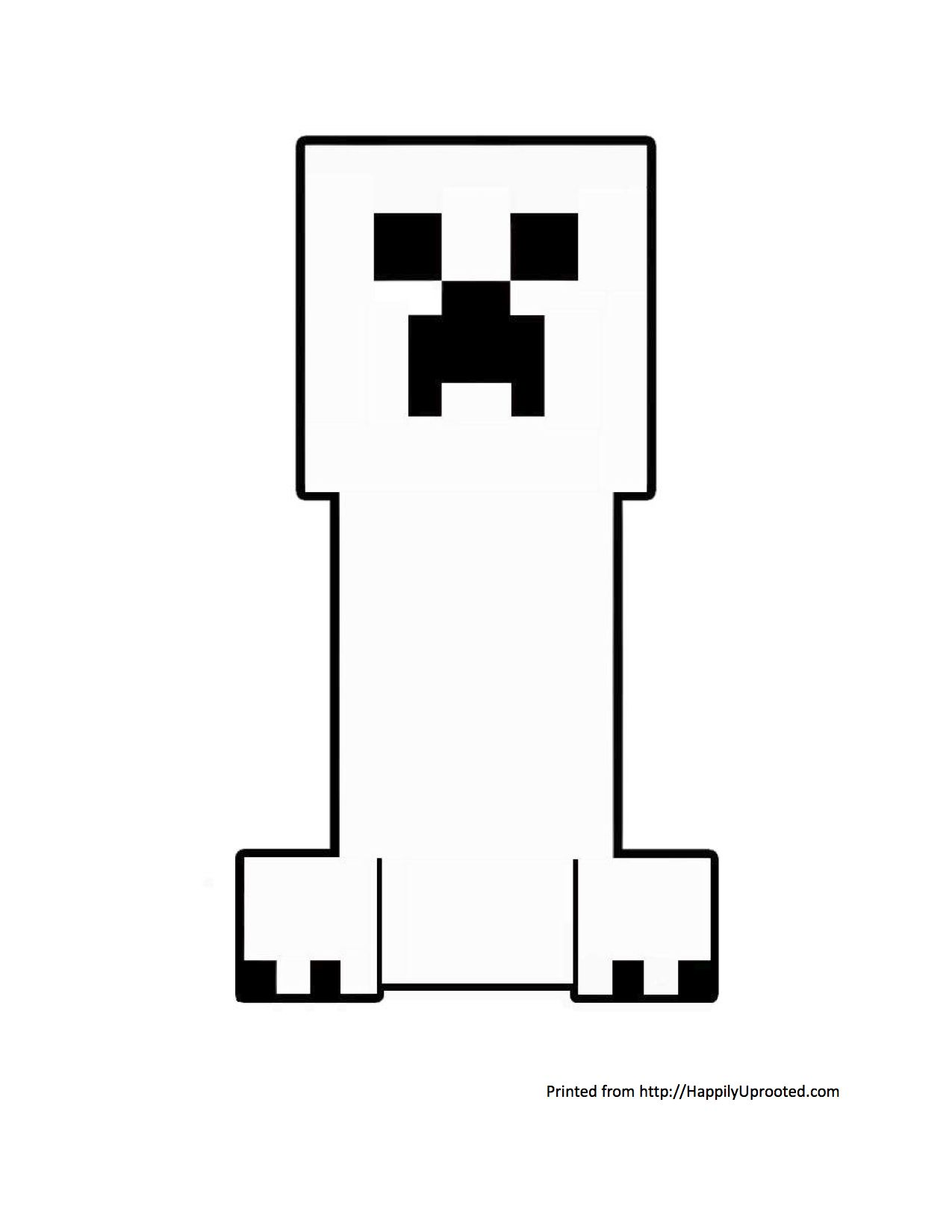 minecraft creeper coloring page create your own creeper art