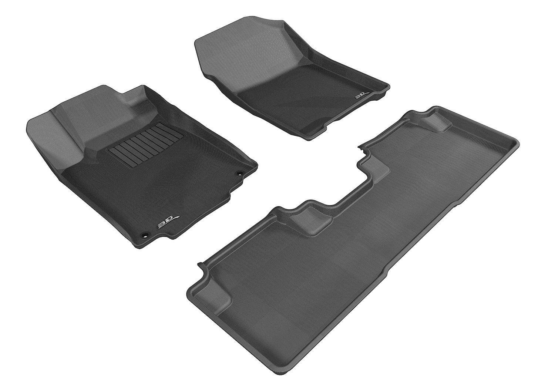 Amazon Com 3d Maxpider Complete Set Custom Fit All Weather Floor Mat For Select Honda Cr V Models Kagu Rubber Black Floor Liners Floor Mats Carbon Fiber