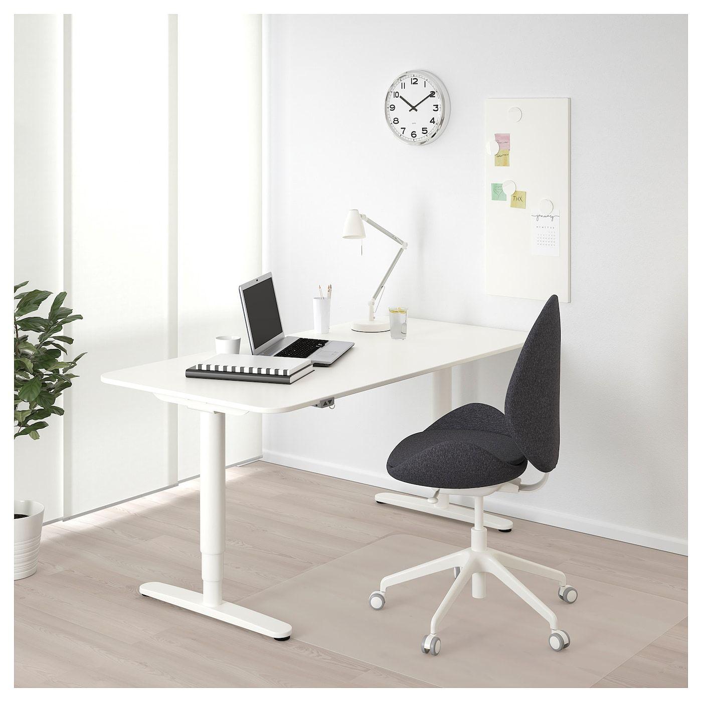 Bekant Desk Sit Stand White Ikea Solutions De Rangement Ikea Bureau Angle