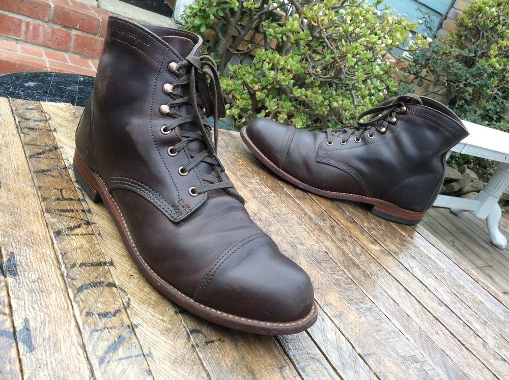 eba1a8dfe9a $355 Wolverine 1000 Mile McClean Cap Toe Ankle Boots Brown Leather ...