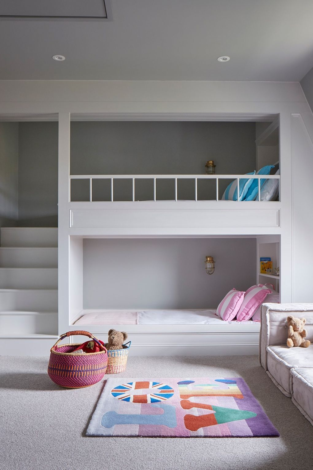 A Modern Scheme For A Victorian House Bunk Beds Built In