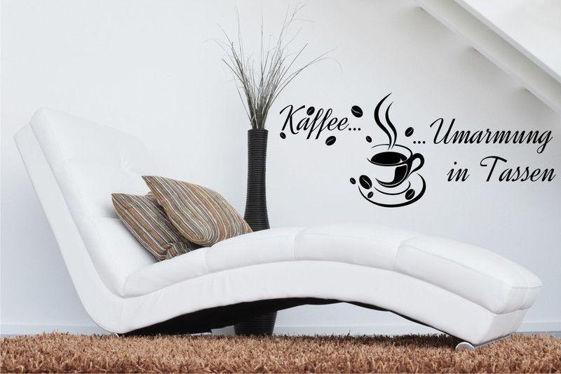 Kaffee Umarmung in Tassen - Wandtattoo Küche - wandtattoos küche kaffee