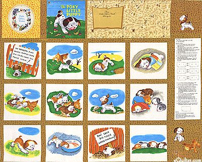 Pokey Little Puppy Soft Book Fabric Panel For The Home